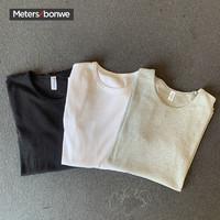 Meters bonwe 美特斯邦威 264520 男士纯棉白恤