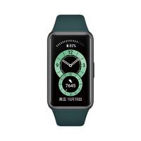 HUAWEI 华为手环6 智能手环 NFC版 黑色 青山黛硅胶表带(血氧)