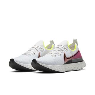 NIKE 耐克 React Infinity Run Fk 男子跑鞋 CD4371-004 白色/粉色 42