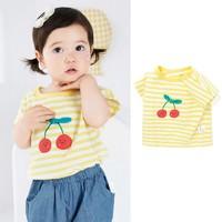 balabala  婴儿纯棉圆领短袖t恤
