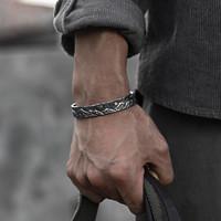 COLIMIDA独立设计山海手镯男999纯银复古霸气手工定制手环银镯子