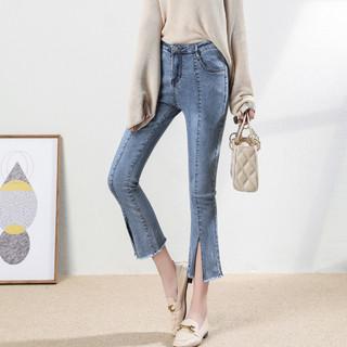 La Babite 拉贝缇 拉夏贝尔旗下2021年春季新款时尚气质百搭显瘦显腿长女式牛仔裤