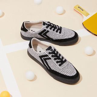 太平鸟  国潮休闲帆布鞋A6ZDA3351 女款 37 黑色