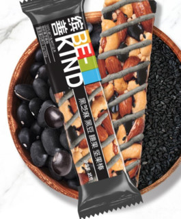 BE-KIND 黑芝麻黑豆腰果坚果代餐棒 35g*12支