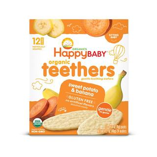 HappyBABY 禧贝 有机磨牙饼干 蓝莓紫胡萝卜味+香蕉甘薯味+青豆菠菜味 48g*3盒