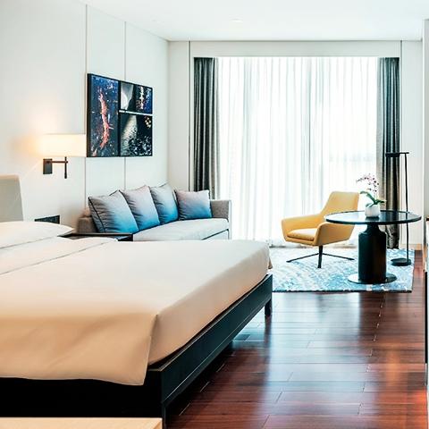 上海环球港凯悦酒店凯悦大床/双床房1晚(含双早+双人露台烧烤套餐)