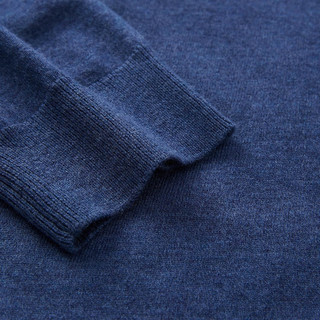 海澜之家 男士热卖多色圆领柔软净色长袖针织衫 牛仔蓝4A M