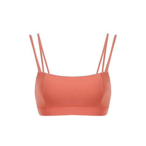 暴走的萝莉 新款运动内衣女美背训练瑜伽背心健身bra防震跑步文胸 LLWX03057 马缨丹粉 M