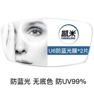U6膜層 1.74折射率 防藍光鏡片 2片+贈店內150元內鏡框任選一副