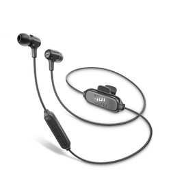 JBL 杰宝  E25BT 入耳式颈挂式蓝牙耳机 暗夜黑