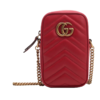 GUCCI 古驰 GG Marmont系列 女士皮革斜挎相机包 598597 DTDCT 6433 红色 迷你
