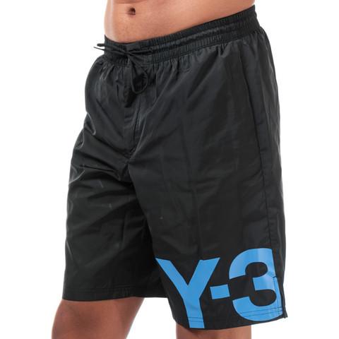 【Y-3】男士 Large Logo 运动短裤