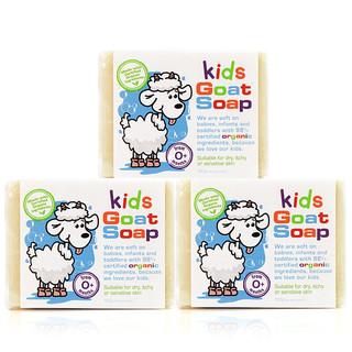 Goat Soap 山羊奶 Goat Soap山羊奶皂儿童香皂婴儿肥皂洗脸皂沐浴皂护肤润肤手工皂澳洲进口 宝宝款100g*3