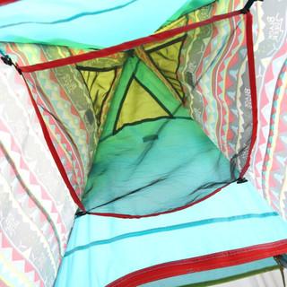 BLACKDEER 黑鹿 铝杆帐篷户外野营露营印第安3-4人防雨帐篷 蔚蓝色