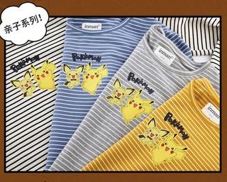 茵曼 × 宝可梦 联名款 女士条纹T恤 1804607