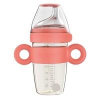 rikang 日康 婴儿PPSU重力球奶瓶  240ML 海棠红