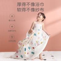 小狮王辛巴(simba) 纯棉加厚婴儿浴巾 超柔吸水新生6层纱布盖毯被宝宝儿童洗澡浴袍