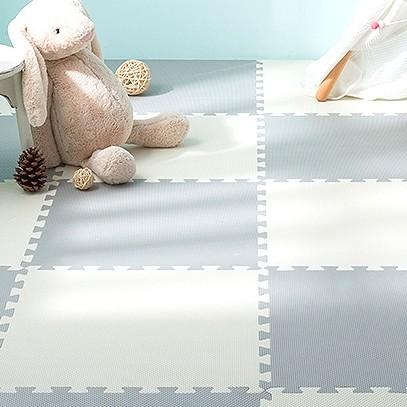 明德拼接泡沫地垫十字纹儿童爬行垫卧室防滑榻榻米垫子家用爬爬垫