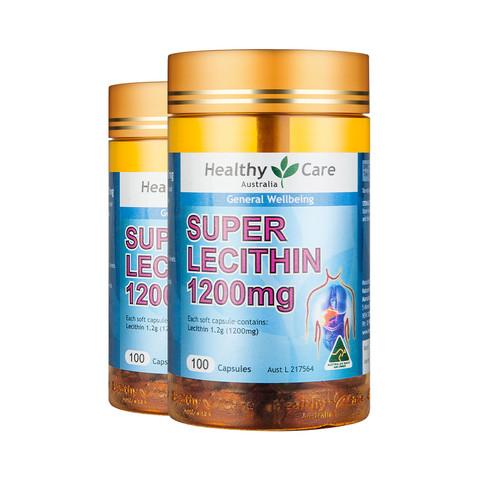 聚划算百亿补贴:Healthy Care 大豆卵磷脂软胶囊 100粒*2瓶
