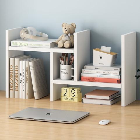 家乐铭品 桌面书架 电脑桌架桌上格子架书架收纳架简易板式办公学生置物架小架子储物架 ZC2412
