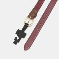 COACH蔻驰 女士logo标识针扣腰带