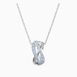 施华洛世奇TWIST ROWS 优雅交织曲线密镶水晶项链锁骨链
