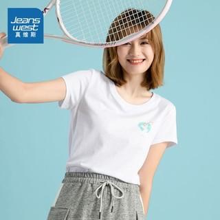 JEANSWEST 真维斯 JW-02-273TB508 女士圆领休闲T恤