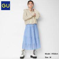 GU 极优 331365 女士薄纱细褶半裙