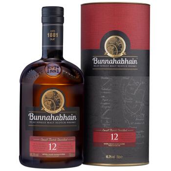 Bunnahabhain 布纳哈本 12年单一麦芽苏格兰威士忌 46.3%Vol 700ml