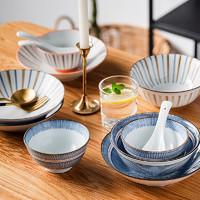 12日10:00、黑卡会员:考拉工厂店 四人食日式陶瓷餐具 16件套