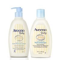 Aveeno艾维诺婴儿燕麦舒缓保湿润肤乳护肤面霜+洗发沐浴露354ml