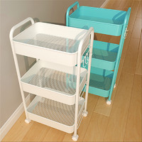 小推车置物架厨房落地多层零食婴儿客厅卧室卫生间移动储物收纳架