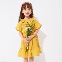 巴拉巴拉儿童连衣裙夏季新款女童公主裙小童宝宝裙子文艺