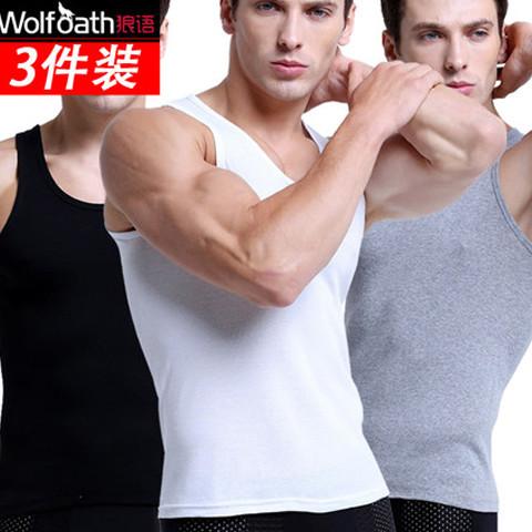 男士纯棉背心夏季透气修身青年运动大码宽松无袖打底工字背心汗衫
