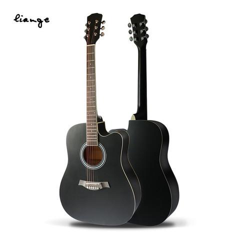 恋歌(Liange)单板吉他民谣吉他入门初学者41黑色木吉它jita儿童乐器