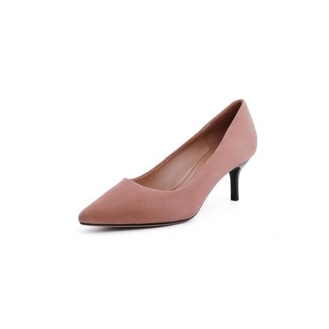 百丽商场同款羊绒皮革女通勤细高跟皮鞋