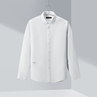 HLA 海澜之家 HNEAD1R004A 男士简约牛津纺休闲长袖衬衫