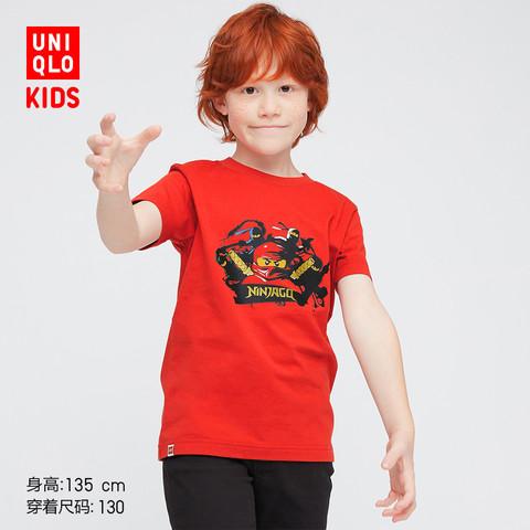 优衣库童装男童女童(UT)LEGO(R)NINJAGO(R)乐高印花T恤春夏436812