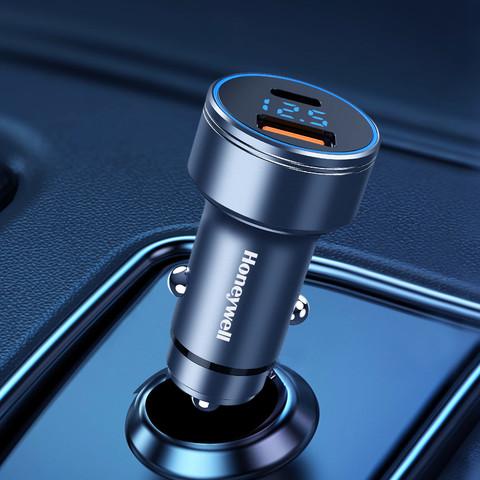 霍尼韦尔车载充电器36W QC3.0快充双USB接口点烟器