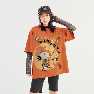 LEDIN 乐町  史努比联名 CWDAB212524 女士短袖T恤