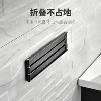 安华浴室卫生间免打孔毛巾架多功能旋转折叠置物架毛巾杆浴巾架子