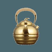 日本竹影堂 手工纯金制造 茶壶
