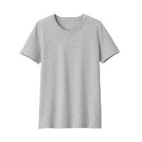 无印良品 MUJI 女式 印度棉天竺编织 圆领短袖T恤