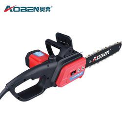 奥奔AOBEN 电链锯 伐木锯大功率木材切割机家用多功能木工手电锯链条锯免油1900W电动工具