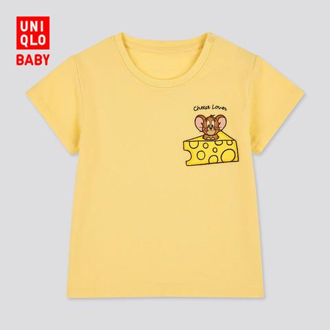 优衣库 婴儿/幼儿LT / Tom & Jerry印花T恤(短袖) 436656春夏UT