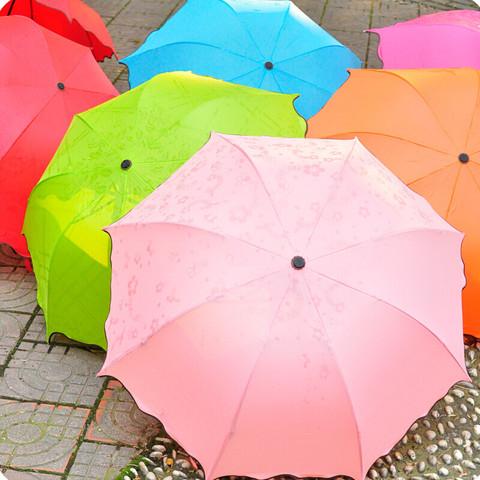 亲海晴雨两用雨伞 加厚男女创意伞 大号 遇水开花/晴雨两用雨伞