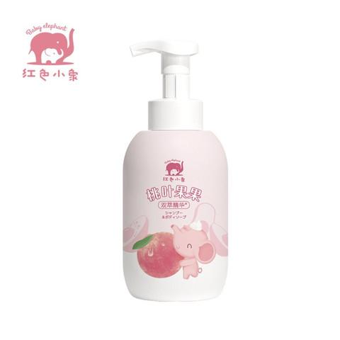 红色小象 儿童洗沐二合一 宝宝洗发水 桃叶果果双萃精华洗发沐浴露550ml