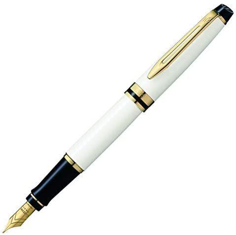 Prime会员:Waterman 威迪文 钢笔 EF 极细字 专家 Essential 象牙色GT 2103849 两用式 笔尖18K 正规进口商品