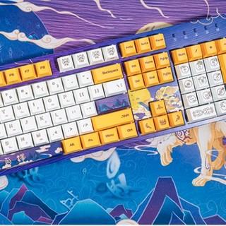 DURGOD 杜伽 白泽 104键 有线机械键盘 白色 Cherry红轴 无光