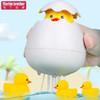 马丁兄弟 儿童宝宝洗澡玩具婴儿游泳会喷水的小鸭子玩具蛋泳池浴室小黄鸭捏捏叫玩水戏水玩具套装